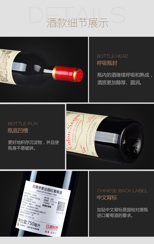 1996年凯隆世家庄园红葡萄酒